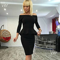 Женское классическое платье баска 3 цвета р. 42,44,46