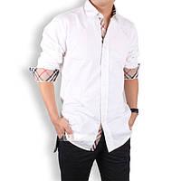 Мужская рубашка с длинным рукавом  - белая
