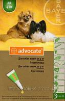 Адвокат для собак (Advocate) - капли от блох, глистов, ушного клеща, демодекоза и др.