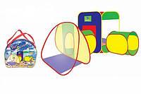 Детская палатка с 2 туннелями А999-28. Размер 203*143*46 см