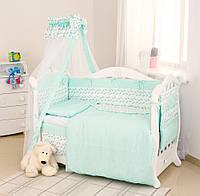 Постельный набор в детскую кроватку Twins Premium Птички