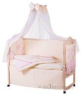 Комплект в кроватку с мишкой для девочки ELLIT Украина 60898 бежевый