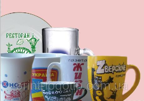 Посуда с логотипом, печать на чашках ,кружках