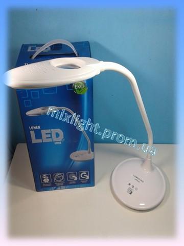 Led лампа белая настольная Lumen office 5W