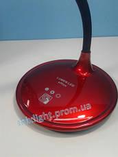 Led лампа настольная Lumen office 5W красная, фото 3