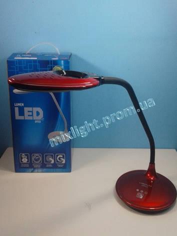 Led лампа настольная Lumen office 5W красная, фото 2