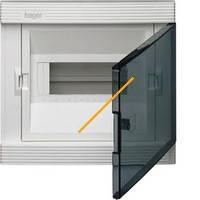 Щит распределительный внутренний GOLF VF108ТD на 8 модулей, прозрачная дверца