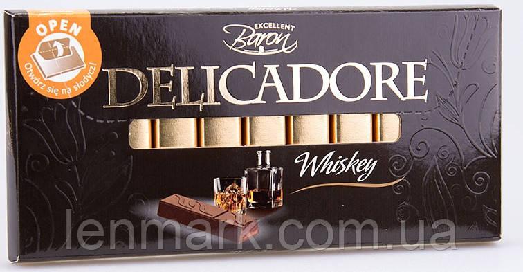 Молочный шоколад  DELICADORE Baron whisky (со вкусом виски) 200г