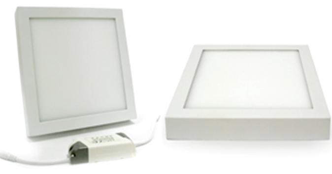 Светильник  светодиодный 2в1 18W (3000 К) накладной квадратный Wall Light Plastic с каемкой