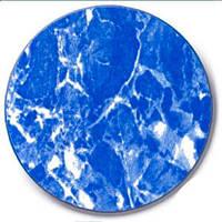 Гидроизолирующая ПВХ пленка - лайнер - синий мрамор