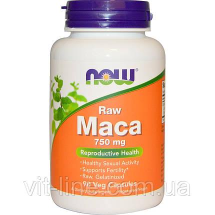 Now Foods, Мака, сырая, 750 мг, 90 вегетарианских капсул, фото 2