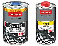 Бесцветный акриловый лак Novakryl 540 2+1 + отвердитель Н5140 (1л+0.5л)