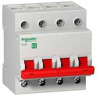 Выключатель нагрузки (мини-рубильник) SCHNEIDER EZ9 4P, 400В, 100А/5кА, EZ9S16491