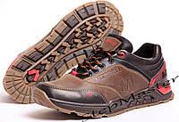 Мужские кожаные кроссовки  Merrell коричневые