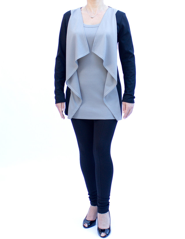 туника-кардиган женская цвет серый фото teens.ua