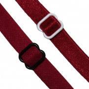 Резинка плоская для шлеек бюстгалтера,резинка двухсторонняя ,швейная фурнитура для белья .цвет бордо #5б