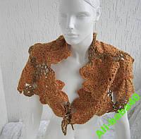 Воротник шарф ручная работа вязка крючком ab4, фото 1