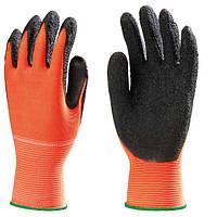 Перчатки рабочие, покрытые латексом EUROFLEX HI-VIZ размер 8, 9