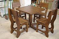 Стол деревянный +4 стула для кафе