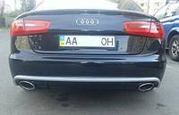 Диффузор заднего бампера RS6 на Audi A6 2012 модельного года выпуска. Фото клиента после установки!