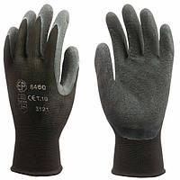 Перчатки рабочие, покрытые латексом, вязаные. Размер 9, 10