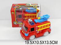 Музыкальная пожарная машина 2014a (932899) (722) батар., свет, в кор. 19,5*10,5*13,5см