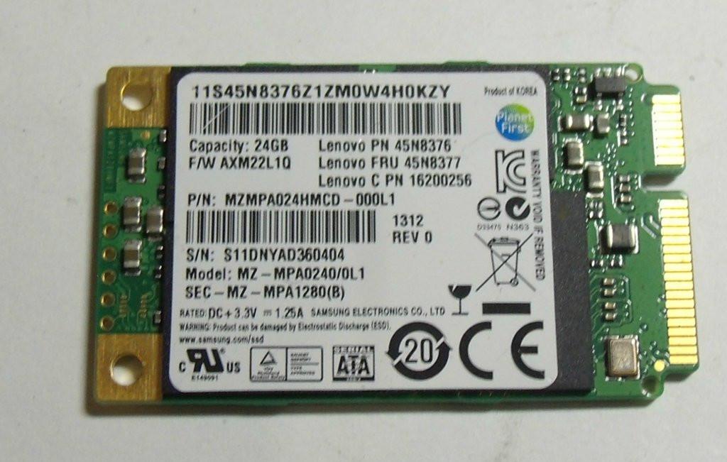 SSD 45N8376 24Gb mini mSATA Lenovo Ideapad U310