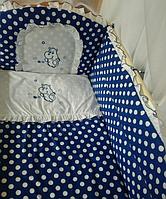 """Детское постельное белье в кроватку """"Вышивка Бегемотик"""""""