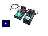 Мощный лазер для резки или гравировки 2Вт, синий