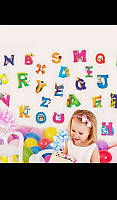 Интерьерные виниловые наклейки для детской комнаты алфавит письмо