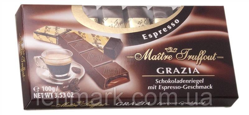 Шоколад  Maitre Truffout Espresso  с начинкой кофе эспрессо 100 г
