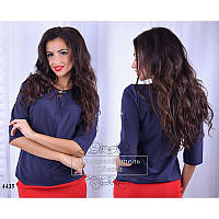 Блуза R-4435 темно-синий