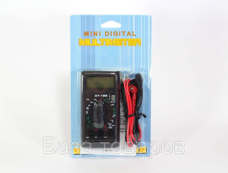 Мультиметр цифровой DT 182, измерительный прибор мультиметр, цифровой тестер мультиметр - База товаров в Одессе