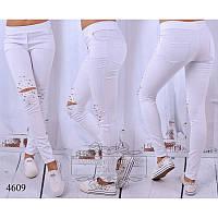 Лосины джинс R-4609 белый