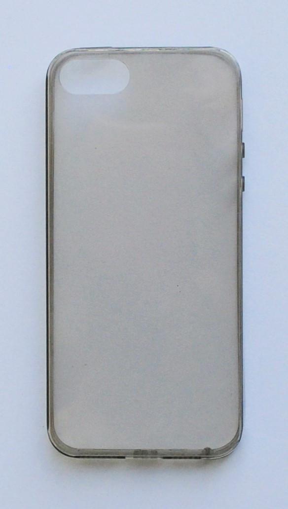 Чехол на Айфон 5/5s/SE тонкий Силикон толщиной 0.5 мм Прозрачный Темный