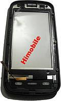 Сенсор тачскрин Nokia C6-00 черный в рамке