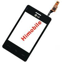 Тачскрин сенсор LG T370, T375 Optimus L3 черный