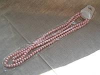 Бусы жемчуг искусственный, 110 см, диаметр 6 мм. Цвета разные розовый