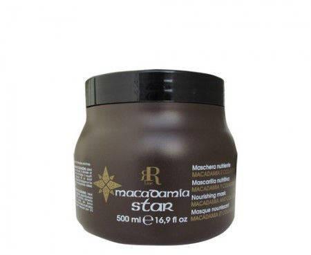 Маска для волос с маслом макадамии и коллагеном - R-Line maschera nutriente macadamia e collagene 500 ml, фото 2