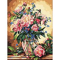 Картина по номерам без коробки Идейка Пионы в вазе (KHO081) 40 х 50 см