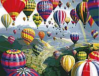 Раскраска на холсте без коробки Идейка Разноцветные шары (KHO1056) 40 х 50 см