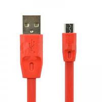 Кабель USB (папа) = microUSB универсальный Remax Full Speed 1m Red