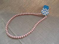 Бусы жемчуг искусственный, 40 см, диаметр 6 мм. Цвета разные розовый