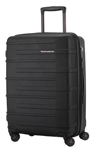 Большой дорожный 4-колесный пластиковый чемодан 82 л. HAUPTSTADTKOFFER Ostkreuz midi black черный