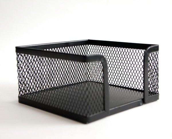 Куб для бумаг 10х10х5,5см металлический 9127
