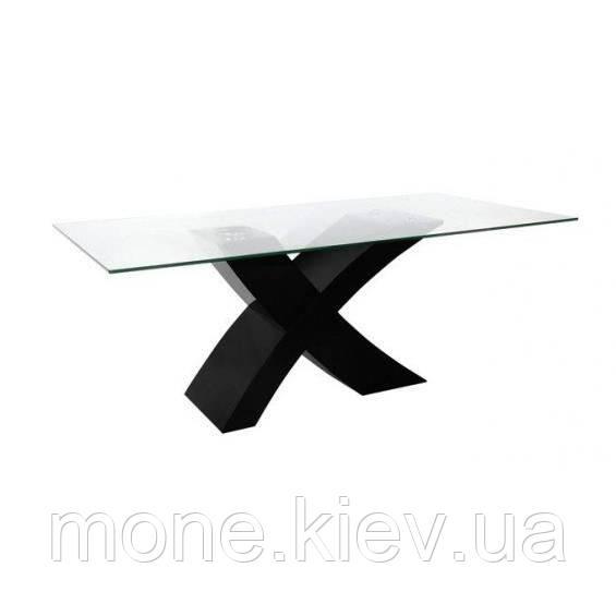 """Стол обеденный  со стеклом """"Икс"""""""