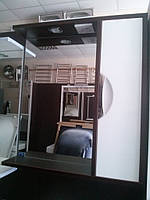 Зеркало в ванную З-01 ВР Николь 65 см (белое с венге)