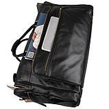 Вместительная удобная кожаная сумка  7317-1A, фото 6
