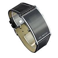 Мужские КОЖАННЫЕ наручные LED часы класса люкс! Водонепроницаемые