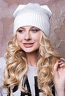 """Зимние женские шапочки с ушками и стразами """"Катюша""""."""